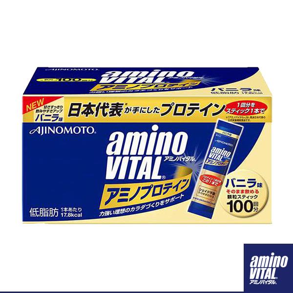 アミノバイタル アミノプロテイン/バニラ味/100本入(16AM2800)
