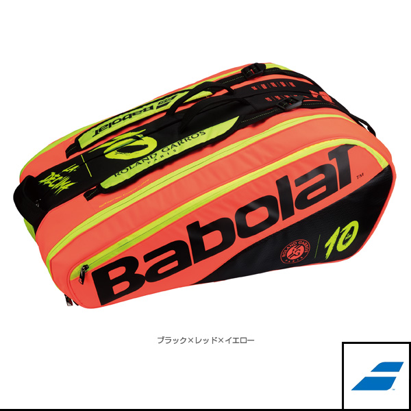 RACKET HOLDER X 12 DECIMA PURE FRENCH OPEN/ラケットバッグ/ラケット12本収納可(BB751164)