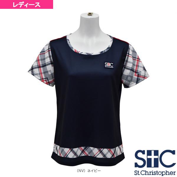 チェックスリーブゲームTシャツ/レディース(STC-AHW6081)