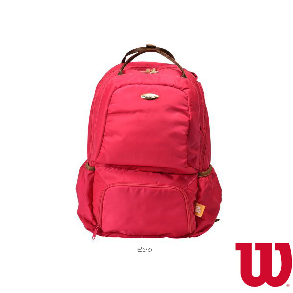 W BEAR BACKPACK 13POCKETS/ウィルソンベア バックパック 13ポケット/ラケット2本収納可/ピンク(WR8001903001)