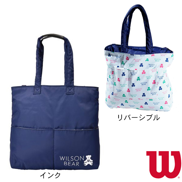 ONE BEAR TOTE/ワンベア トート/ラケット2本収納可/インク(WR8002002001)