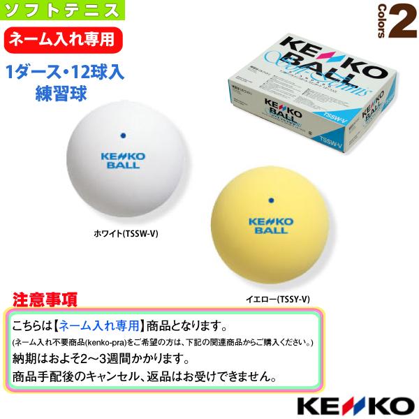 【ネーム入れ】『1箱(1ダース・12球入)』ケンコーソフトテニスボールスタンダード(練習球)